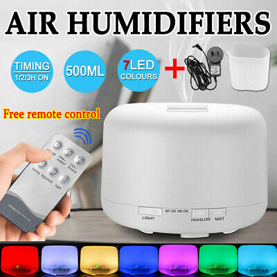 AU20.39 • Buy 500ml LED Humidifiers Essential Air Oil Aroma Diffuser Ultrasonic Aromatherapy