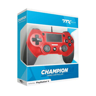 AU57.95 • Buy TTX Champion Wired Controller For PS4 Red NEW