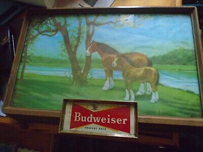 $ CDN395.39 • Buy Budweiser Draught Beer 1950s Lighted Sign White Clydesdales Rare