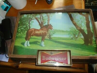 $ CDN396.29 • Buy Budweiser Draught Beer 1950s Lighted Sign White Clydesdale Rare