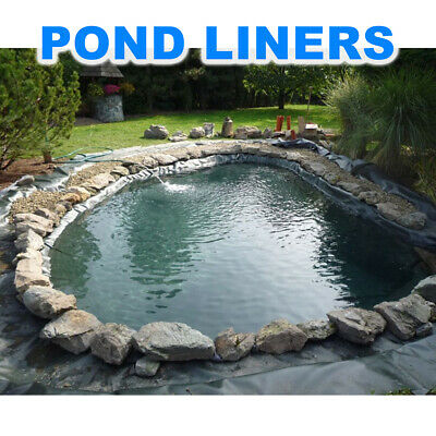 Fish POND LINER Garden Pond Landscaping Pool Plastic Thick Heavy Duty Waterproof • 15.95£