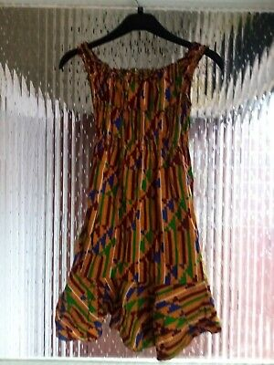 Preowened Girls African Handmade  Summer Dress Age 10 - 13 Years • 12.99£