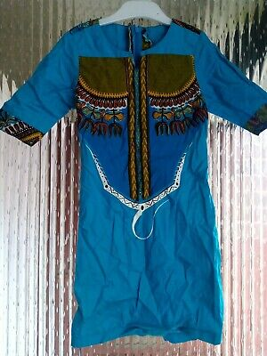Preowened Girls African Handmade Dress With A Detailed Front Casual 7 - 8 Years  • 19.99£