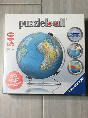 $28.99 • Buy Ravensburger The Earth 3D Jigsaw Puzzle Ball World Globe 540 Pieces With Stand
