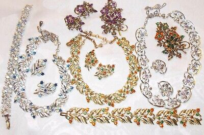 $ CDN99 • Buy Vintage Lot Signed  Signed Coro Rhinestone Jewelry Many Sets