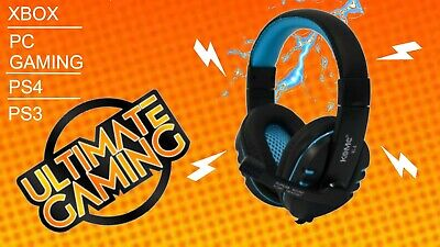 3.5mm Gaming Headset MIC LED Headphones For PC SW Laptop PS4 Slim Xbox One X S • 4.49£