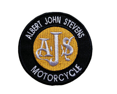Ajs Motorcycle Classic British Vintage Bike Biker  Badge Iron Sew On Patch • 1.99£