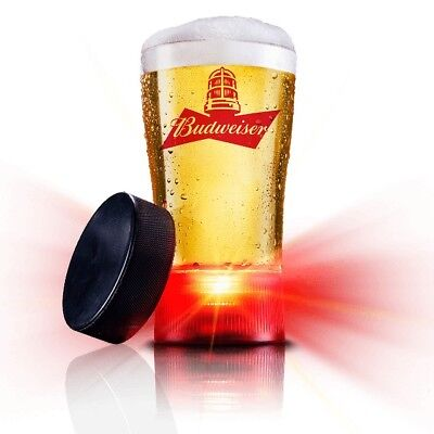$ CDN10 • Buy Budweiser Red Light Goal-synced Glass- Sync To Any Nhl Team