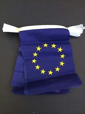 EUROPEAN UNION  - POLYESTER BUNTING - 3m (10ft)  - 10 Flags Each  9  X 6   • 4.50£