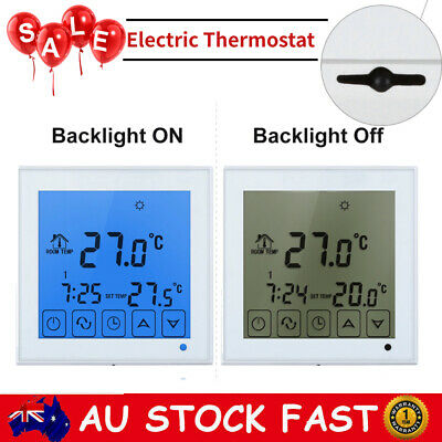 AU26.99 • Buy Touch Screen LCD Electric Thermostat Room Heating Controller Thermometer Sensor