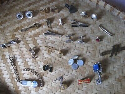 $ CDN40 • Buy MEN'S JEWELRY LOT Vintage To Modern VARIETY Cufflinks Tie Clips Handsome #3