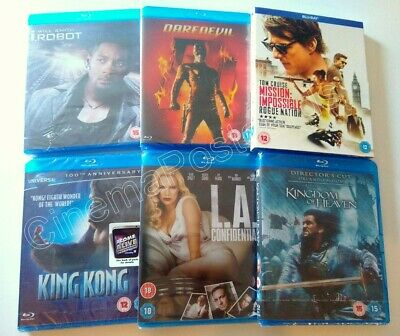 2 From £8* Blu Ray Sliver FACE OFF Denzel Washington Stallone Will Smith Diesel • 5.88£
