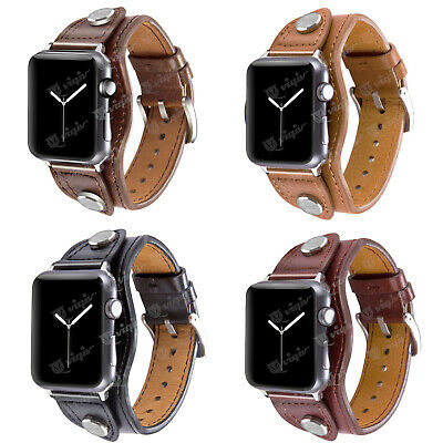 $ CDN17.99 • Buy For Apple Watch 38 42 40 44 Mm Series 5 4 3 2 Vintage Leather Wrist Bands Straps