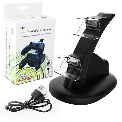 $11.98 • Buy For Xbox One / One X / One S Controller Dual Charger Dock Station Charging Stand