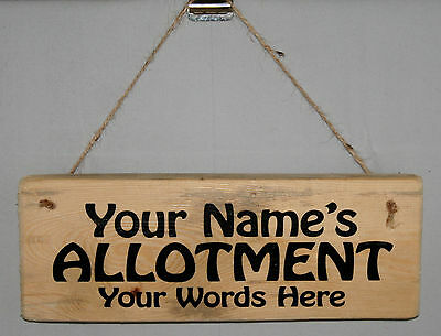 Personalised Name Allotment Sign Plaque Shed Garden Gardening Greenhouse Outdoor • 6.95£