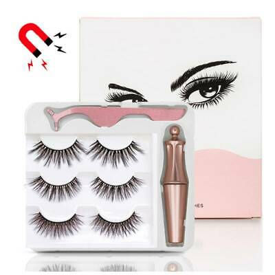AU12.85 • Buy Magnetic False Eyelashes Natural Extension Eye Lashes Liquid Eyeliner Tweezer
