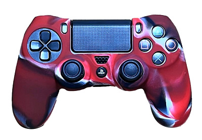 AU8.90 • Buy Silicone Cover For PS4 Controller Case Skin - Red/Black Swirls