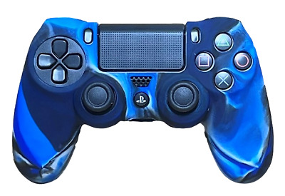 AU8.90 • Buy Silicone Cover For PS4 Controller Case Skin - Navy Swirls