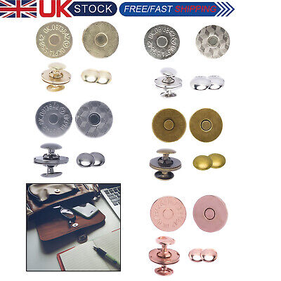 Magnetic Snap Buttons Double Rivet Closures Set For Bags Leathercrafts 14/18mm  • 2.65£
