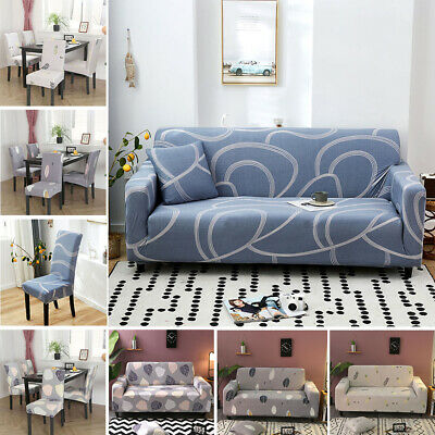 AU14.87 • Buy 1/2/3/4 Seater Elastic Sofa Covers Slipcover Stretch Couch Protector Chair Cover