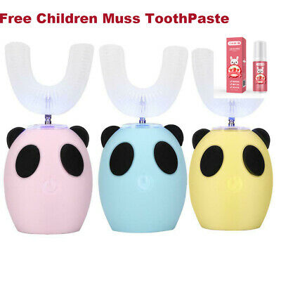 AU35 • Buy Children Tooth Brush U-Shaped Children Automatic 360°Electric Sonic Children Tee