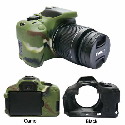 Camera Soft Silicone Rubber Skin Case For Canon EOS Rebel T4i T3i 650D 600D • 11.64£