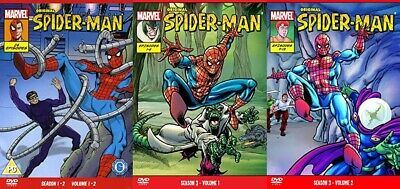 Original Spiderman 1960s Cartoon S1 To S3 DVD • 25£