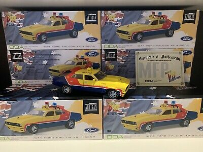 1:18 Yellow Police MFP Ford XB Falcon 1st Of The V8 Interceptors Mad Max Model • 154.51£