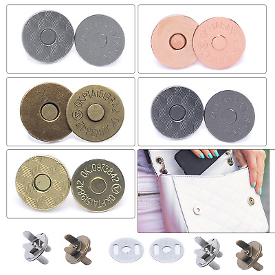 Magnetic Buttons Snap Clasps Closures 14/18mm Fasteners For DIY Bags And Jackets • 2.19£