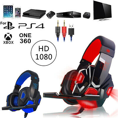 AU27.92 • Buy 3.5mm Gaming Headset MIC LED Headphones Stereo For PC Laptop PS4 Pro Xbox One