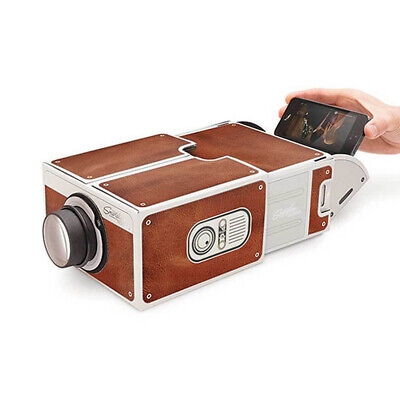 Smartphone Projector DIY Mobile Phone Portable Home Cinema For IPhone Samsung • 16.44£