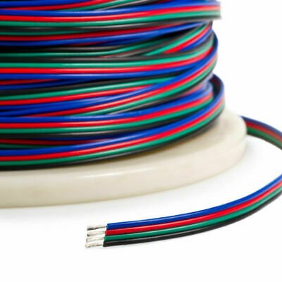 $2.79 • Buy 4-PIN RGB Extension Connector Wire Cable Cord For 3528/5050 RGB LED Strip Light