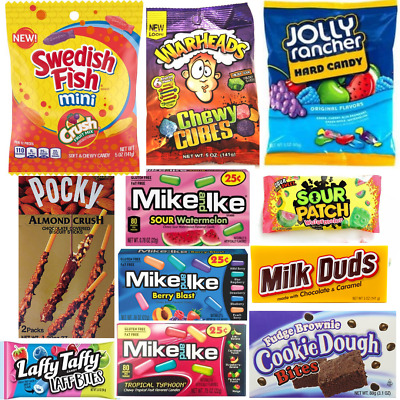 American Candy - JOLLY RANCHER,SOUR PATCH,NERDS,MIKE & IKE,SWEDISH FISH,LAFFYTAF • 2.79£