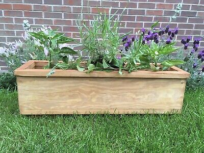 60cm Wooden Garden Planter/Window Box/Trough/Herb/Flower • 19.99£