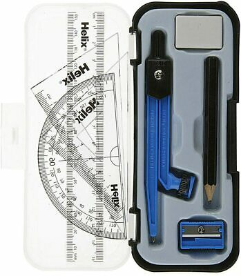 £2.70 • Buy Helix Compact Maths Geometry Set With Compass Ruler Protractor Squares Sharpener