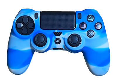 AU8.90 • Buy Silicone Cover For PS4 Controller Case Skin -  Light Blue Swirls