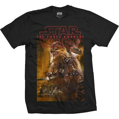 STAR WARS  Official UNISEX TEE: EPISODE VII CHEWBACCA COMPOSITION  Black T • 6.99£