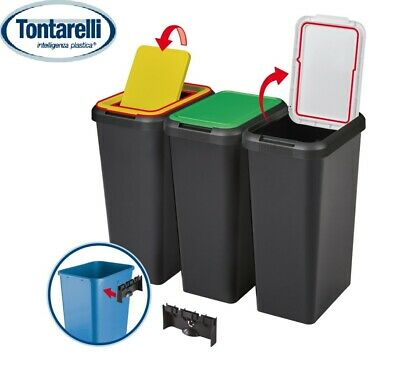 £14.99 • Buy 45L Plastic Recycling Recycle Bins Touch Top Bin Kitchen Waste Dustbin Rectangle