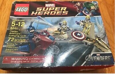 Lego 6865 Superheroes Captain America's Avenging Cycle New In Sealed Damage Box • 23.67£