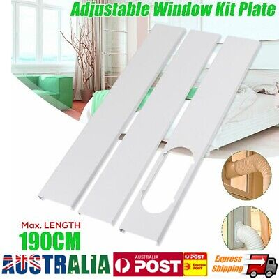 AU27.99 • Buy 1.9M Portable Air Conditioner Exhaust Window Slide Kit Plate Door Seal Cloth New