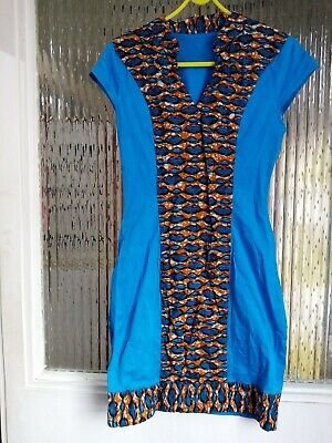 Preowened Girls African Handmade Dress With Detailed Front Casual  10-11years  • 19.99£