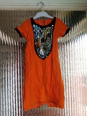 Preowened Girls African Handmade Dress With A Detailed Front Casual 8 - 9 Years  • 19.99£