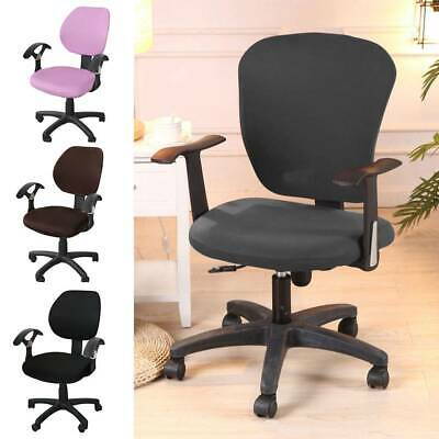 AU22.22 • Buy Chair Cover Office Computer Set Rotating Seat Covers Stretch Slipcover Removable
