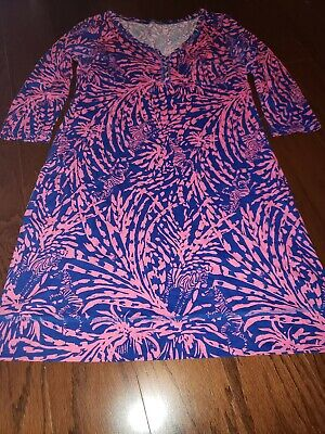 $50 • Buy Lilly Pulitzer Palmetto Dress Zebra Rolling In The Grass Size LARGE EEEUC