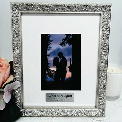 AU55 • Buy Engagement Personalised Silver Photo Frame Louvre 4x6 - Custom Engagement Gift