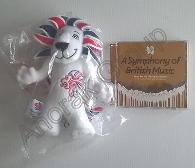 OFFICIAL OLYMPICS Team GB 2012 Lion Mascot Toy +Closing Ceremony Music 2-Disc CD • 18.88£