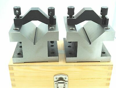 £89.99 • Buy Large Engineers Ultra Precision Vee V Block & Clamp Set 2 1/8″ X 4 1/8″