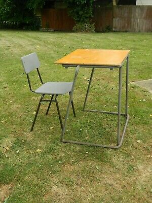 Vintage  REMPLOY  Industrial Stacking School Desk Lots Available! • 15£