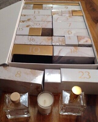 Bahoma Advent Calender On The Rocks Pearl White Candle Diffuser Room Spray 24x • 120£