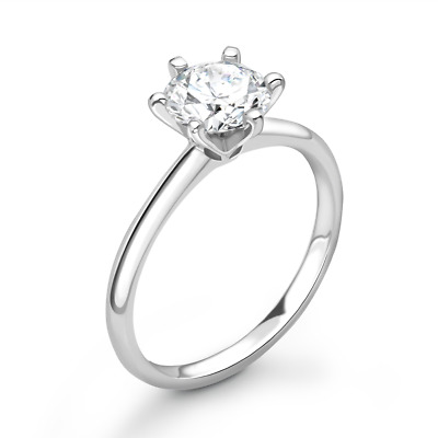 0.50ct Diamond Solitaire Engagement Ring. Half Carat Diamond Engagement Ring. • 999£